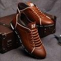 Осенью 2017 Новой Англии мужская Тенденция мужская Обувь Повседневная Обувь Кожаная Обувь Дышащая Четыре мужской
