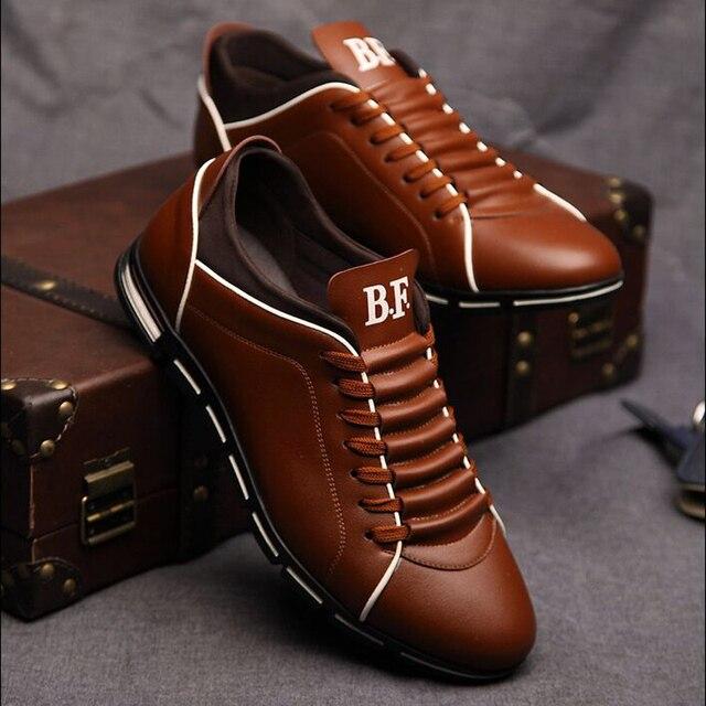 Осенью 2017 Новой Англии мужская тенденция мужская обувь повседневная обувь кожаная обувь дышащая четыре мужчины мужчины повседневная обувь