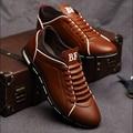 No outono de 2017 dos homens da Nova Inglaterra tendência de homens sapatos sapatos casuais sapatos de couro respirável quatro do sexo masculino homens sapatos casuais