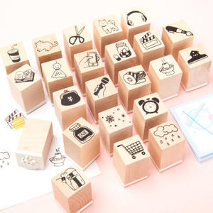 Essential-Products Clock Stamp Stationery Rubber-Stamps Scrapbooking Wooden Student