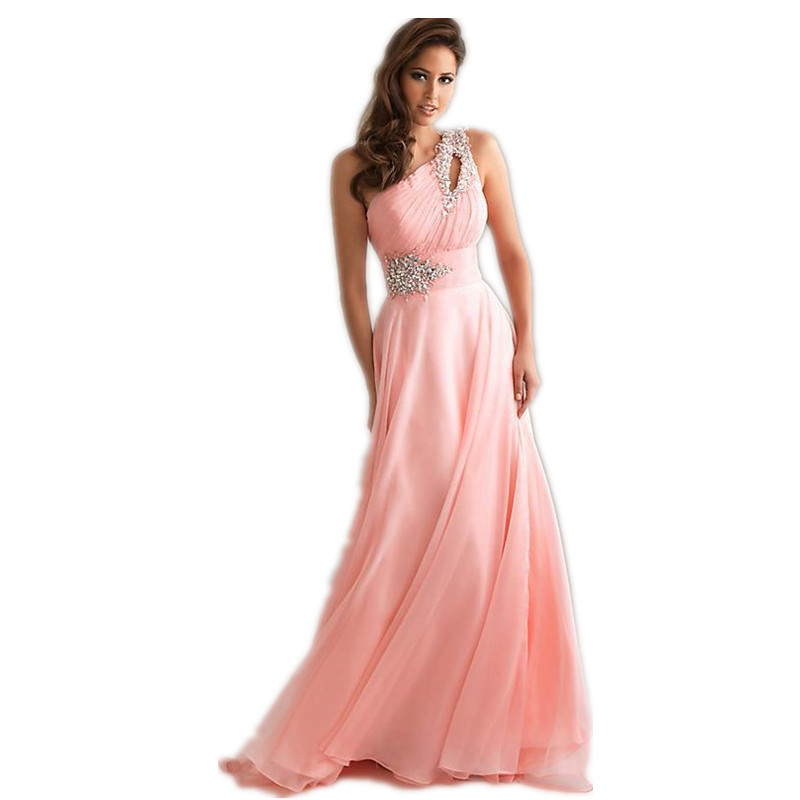 Vestido De Festa Longo Pink Formal Long Evening Dresses