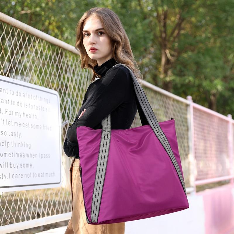 2019 European borsa donna Large capacity Casual Female Tote Bag Solid Purple Mummy Shoulder Handbag Famous Brand Bolsa Feminina