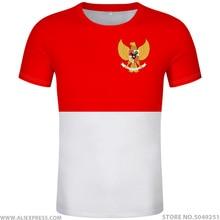 INDONESIA Áo DIY Tự do tự làm Tên số idn Áo Thun quốc gia cờ ID quốc gia Cộng Hòa Indonesia in ảnh 0 quần áo