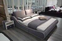 Muebles Para Casa Soft Bed Modern Bedroom Furniture 2019 Hot Sale Promotion King No Genuine Leather Soft Bed Muebles Sofa Beds