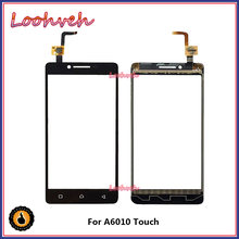 "High Quality 5.0"" For Lenovo A6010 A 6010 Touch Screen Digitizer Sensor Front Glass Lens Panel Black+Tracking Code(China)"