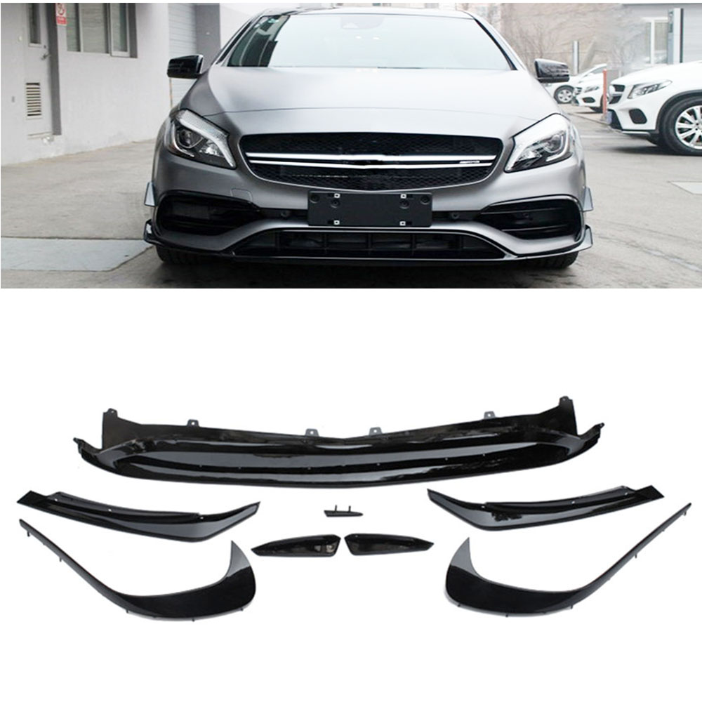 For Mercedes Benz W176 A180 A200 A250 ABS Front Bumper Lip