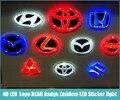 Бесплатная доставка 4D БЕЛЫЙ КРАСНЫЙ СИНИЙ Led стайлинга Автомобилей Парковка Логотип ЗАДНЯЯ Эмблемы СВЕТОДИОДНЫЕ Стикер свет лампы для Всех Автомобилей Модели