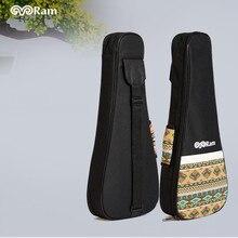 Cotton Ukulele Bag Bororo Soprano & Tenor Sizes Woven Carry Handle Adjustable Backpack Straps Ultra Thick Padding Ukulele Case