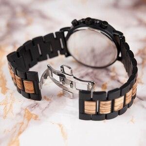 Image 3 - relogio masculino BOBO BIRD Watch Men Luxury Stylish Wood Watches Timepieces Chronograph Military Quartz Mens Gift