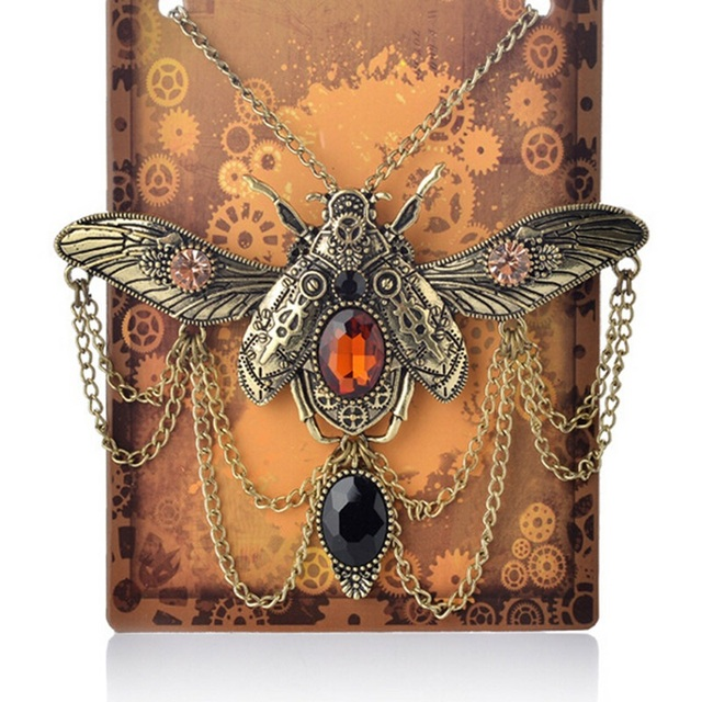 Insect Beetle Steampunk Necklace4