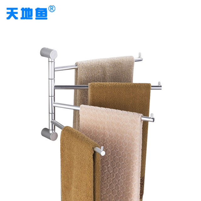 Aluminum rotating Towel bars & holder triple saving space bathroom accessories