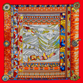 Free Shipping 2016 Hot Sale Silk Square Scarf Printed for Ladies New Arrival Women Brand Silk Scarves 100*100cm