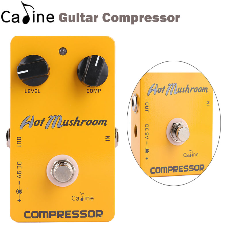 New Caline Guitar Compressor Effects Pedal True Bypass Guitar Parts & Accessories mooer ensemble queen bass chorus effect pedal mini guitar effects true bypass with free connector and footswitch topper