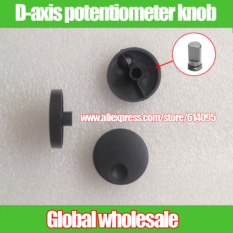 3pcs Axle Shaft D-axis Potentiometer Knob Cap / Audio Volume Sound Adjustment Switch Rotating Cap / Inner Hole 6mm Knob