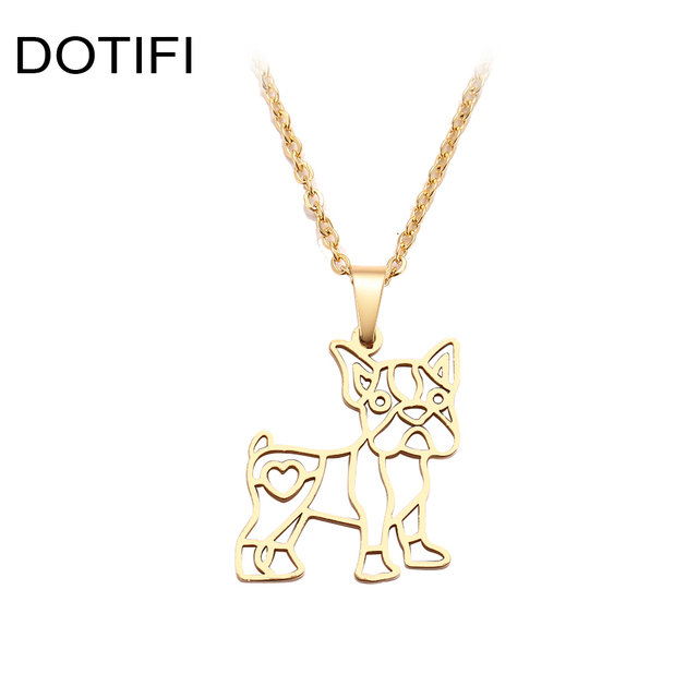 Cute Dog Gold And Silver Pendant Necklace