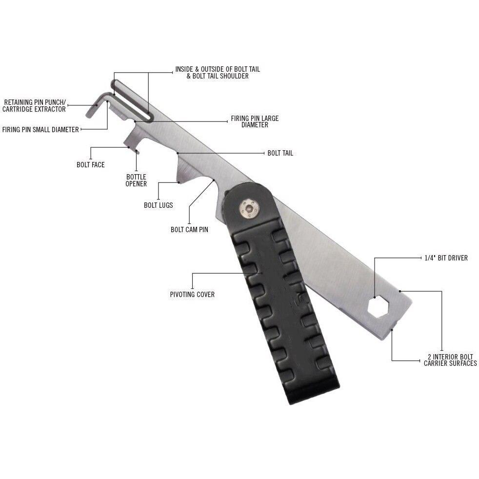 BCG AR15 Rifle Raspador Raspador Ferramenta De Remoção De Carbono. 223/5. 56 AVAR15S Pistola de AR 15 AR-15 Parafuso Kit de Limpeza