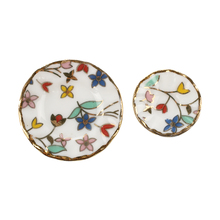 15 Piece Miniature Dollhouse dinnerware porcelain tea set tableware Cup plate