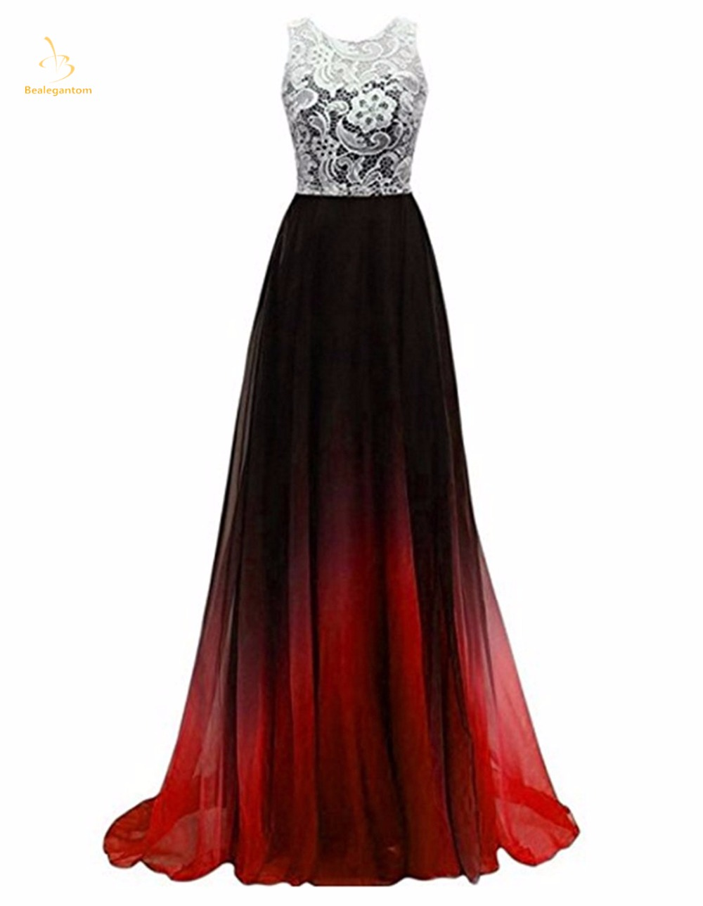 Bealegantom Sexy Gradient Long Lace Evening Dresses 2019 With Zipper Formal Prom Party Gown Vestido Longo QA1434