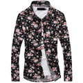 mens floral shirts Free Shipping 2015 Hot sale long sleeve  Mens Shirts Men's dress Shirts,Men's Casual Fit Stylish