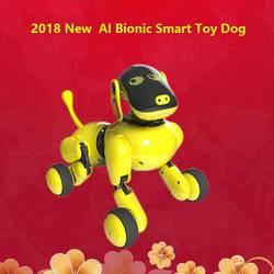 2018 Новый Ai для умный бионический робот собака, голос управление диалог режим кормления, детские игрушки подарок робо rasperry Электрический