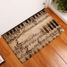Piano Keyboard Music Note Carpet Memory Foam Rugs