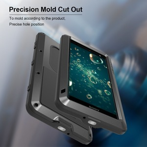 Image 5 - Feitenn Heavy Duty Protection Phone Case for Sony XZ2 Armor Metal Tempered Glass Phone Silicon Bumper Shockproof Aluminum Cover
