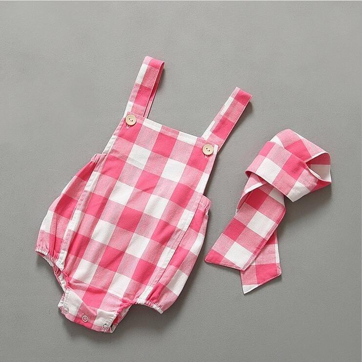 Aliexpress.com : Buy ins cute baby plaid checks romper ...