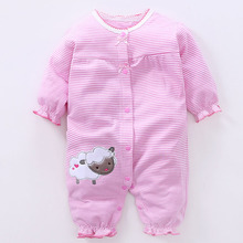 цены на YiErYing Baby Clothing Spring Autumn 100% Cotton Long Sleeve Lovely Newborn Rompers Baby Outfits Clothes Infant Jumpsuits  в интернет-магазинах