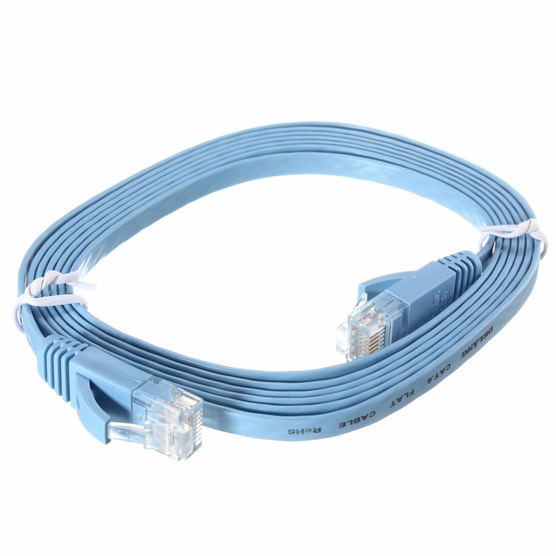 2M Network Cable RJ45 Flat CAT-6 Ethernet Internet Network LAN Cable Patch Lead Network Wire For PC Router 3 Colors  недорого