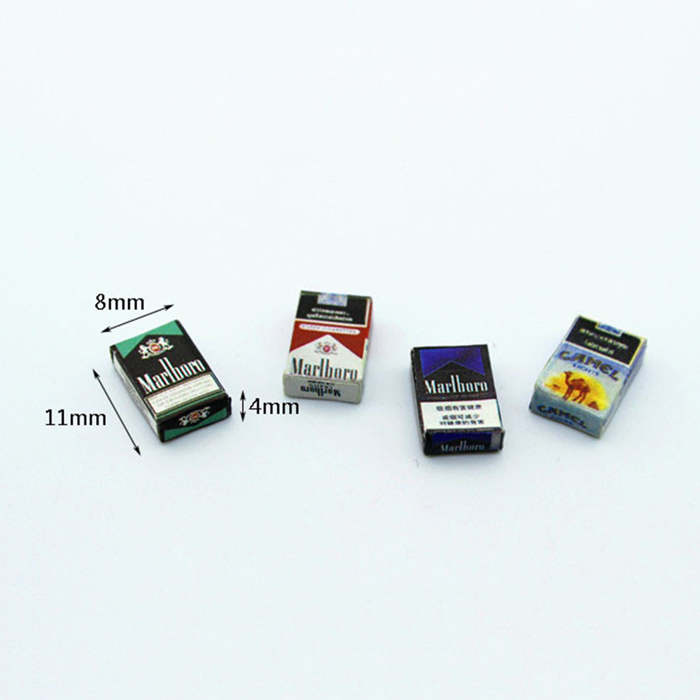 1/12 Dollhouse Miniature Accessories Mini Cigarette Case  Simulation  Box  Model Toys For Doll House Decoration