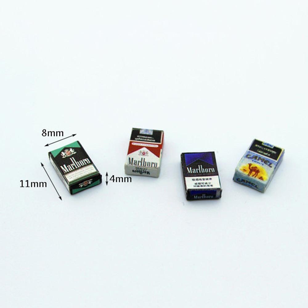 1/12 Dollhouse Miniature Accessories Mini Cigarette Case  Simulation  Box  Model Toys For Doll House Decoration