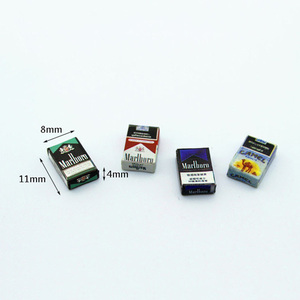 1/12 Dollhouse Miniature Accessories Mini Cigarette Case Simulation box Model Toys for Doll House Decoration(China)