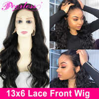 PEERLESS Hair 13*6 Body Wave Lace Front Human Hair Wig Pre Plucked With Baby Hair 150% Density With Swiss Lace Remy Hair