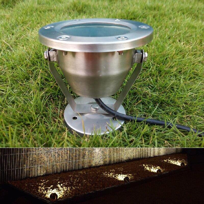 6 Вт светодиодный подводный свет лампы Открытый Водонепроницаемый IP68 AC 110 В 220 В DC 12 В Нержавеющаясталь прожекторы теплый белый холодный бел...