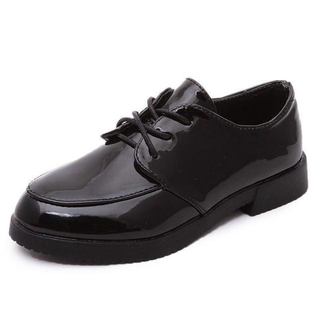 Мальчики Свадьба/Пром PU Leather Shoes 2017 Новое Прибытие Черный/Красный Дети Shoes Водонепроницаемый Верхней Дети Джентльмен Shoes A02091