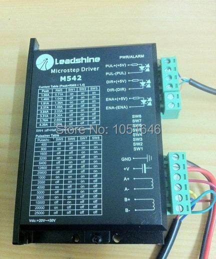 1pc Leadshine stepper Driver M542, 2 phase microstep Drive work parameter 50 VDC 1.0 4.2A for 42 / 57 motor-in Motor Driver from Home Improvement    1