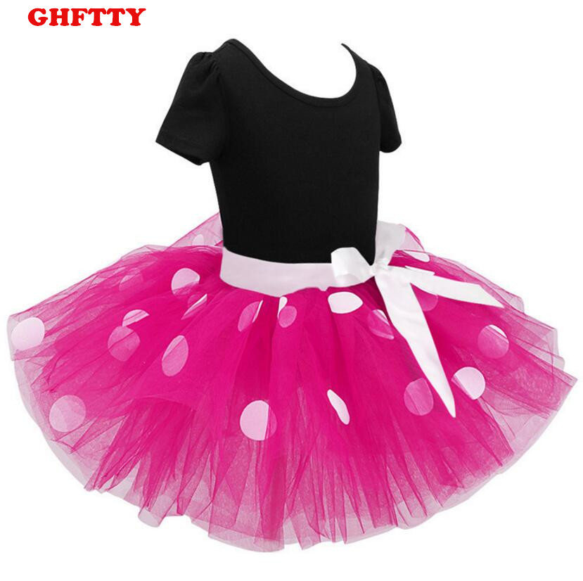 New Years kids Ballet dress princess party costume infant clothing Polka dot baby clothes birthday girls tutu dress Head band 4pcs baby girl clothes swan infant clothing princess tutu dress party baby christmas outfits clothes birthday costumes vestido