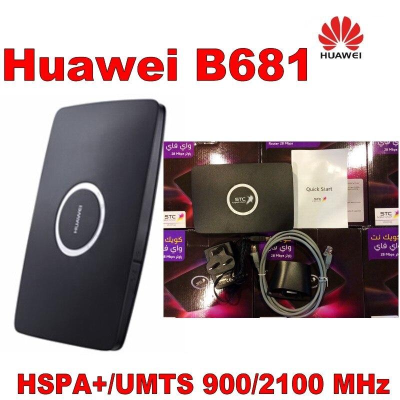 Unlocked Huawei B681 3G UMTS HSPA+ WCDMA 28.8Mbps Wireless Router WPS Home Gateway SIM Card Slot Wifi Mobile Broadband Hotspot