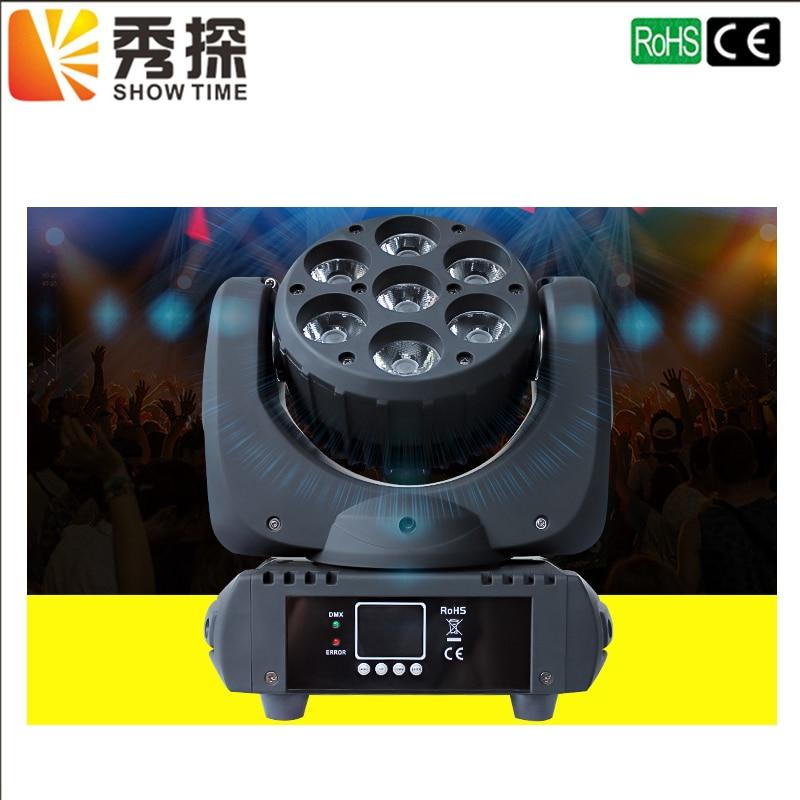 Горячая распродажа светодиодный луч подвижного головного света 7x12 Вт RGBW 4in1 супер яркий 36 шт.