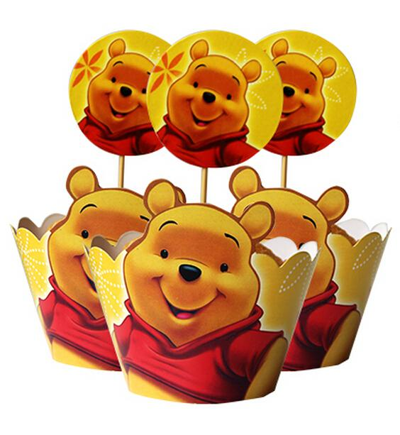 movie winnie the pooh cupcake wrapper decorating boxes cake cup with toppers picks for kids birthday christmas decorations in cake decorating supplies from - Winnie The Pooh Christmas Decorations