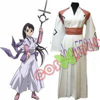Free shipping Hot Anime Kekkaishi cosplay TOKINEYUKIMURA cos Kendo kimono costume full set 3in1 top+pants+belt