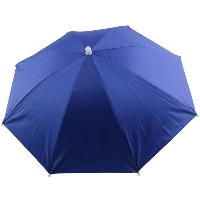 Foldable Umbrella Hat Fishing Hat Hiking Camping Beach Headwear Sun Cap Head Hats Outdoor Sport Fishing Tackle Accessory tool 1