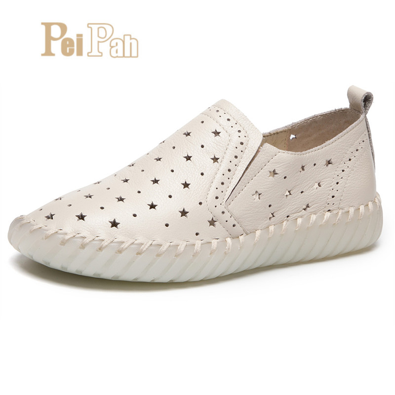 PEIPAH New Arrival Genuine Leather Women Flats Shoes Summer Autumn Solid Casual Shoes Woman Slip On Female Flats Zapatos MujerPEIPAH New Arrival Genuine Leather Women Flats Shoes Summer Autumn Solid Casual Shoes Woman Slip On Female Flats Zapatos Mujer