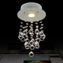 Free shipping crystal chandelier lighting  Dia 200mm*H 380mm 110V/220V hallway lighting  цены