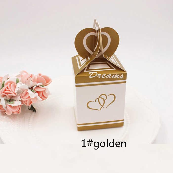 Kotak tas permen chocolate kertas paket hadiah untuk Ulang Tahun perlengkapan Pesta Pernikahan favor Decor DIY ikan ekor desain jantung Wh