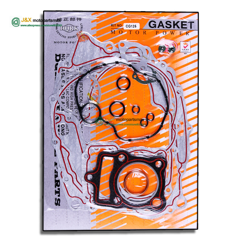 Motorcycle CG125 CG150 full set Paper Gasket full gasket complete gasket include cylinder gaket and <font><b>engine</b></font> gakset image