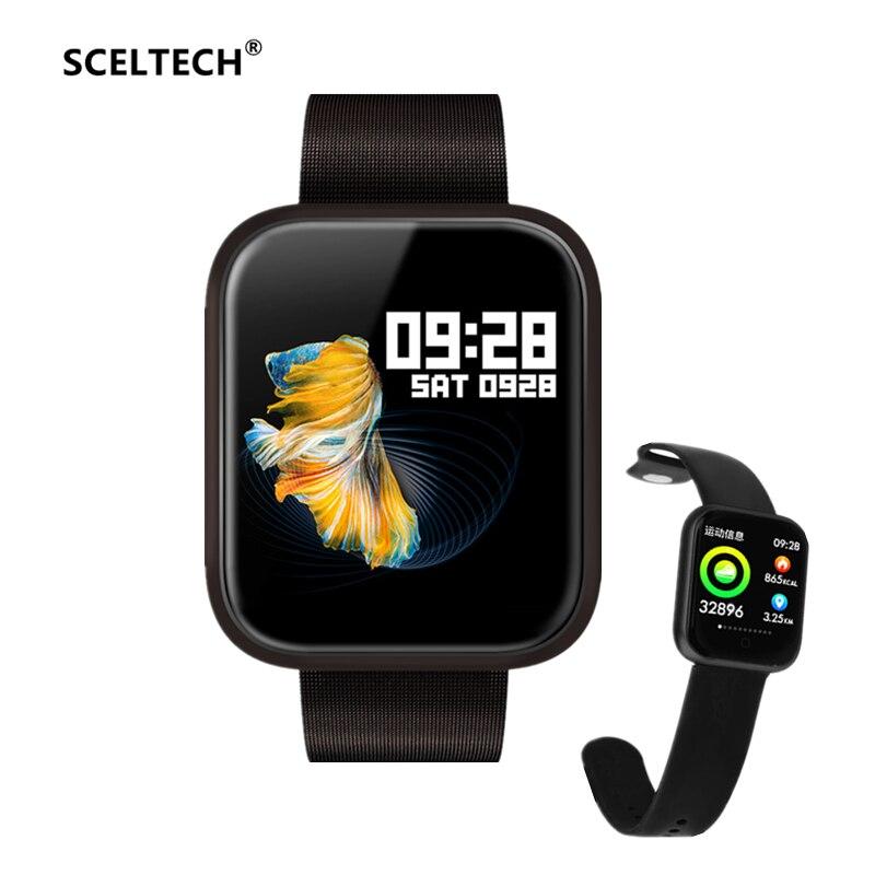 SCELTECH P70 Smart Watch Blood Pressure Oxygen Heart Rate Monitor Sport Activity Fitness Tracker Smartwatch IP68