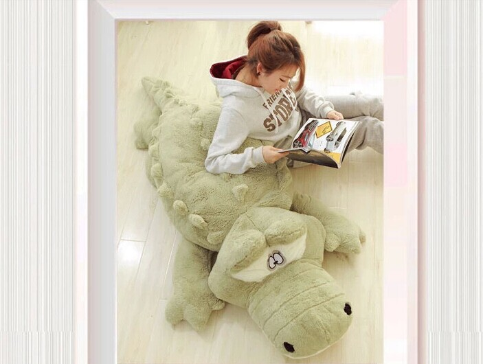 stuffed animal 200 cm plush crocodile toy doll throw pillow , sleeping pillow , boyfriend's pillow gift w2270 stuffed animal 90 cm plush dolphin toy doll pink or blue colour great gift free shipping w166