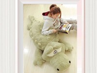 stuffed animal 200 cm plush crocodile toy doll throw pillow , sleeping pillow , boyfriend's pillow gift w2270
