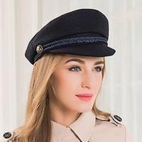 2018 New Fashion Sailor Ship Boat Captain Military Hats Peaked Cap Black Baseball Caps Flat Hat for Women Bere Wool Hats E3579